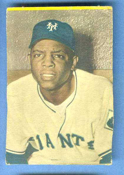 1954 Stahl-Meyer - WILLIE MAYS (Giants) Baseball cards value