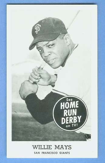 Willie Mays - 1959 HOME RUN DERBY (Giants) Baseball cards value