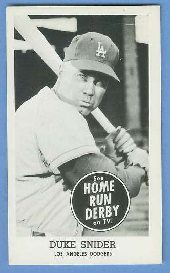 Duke Snider - 1959 HOME RUN DERBY (Dodgers) Baseball cards value