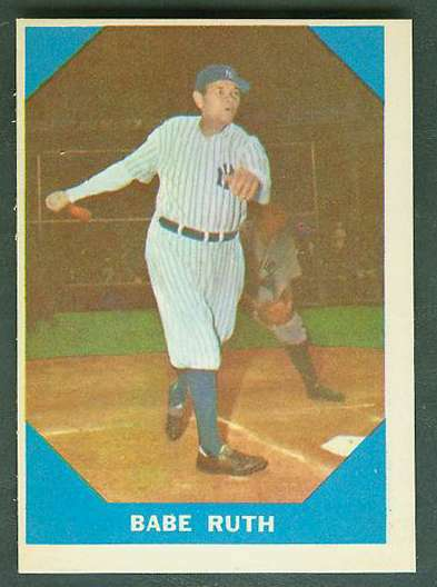 1960 Fleer #..3 Babe Ruth (Yankees) Baseball cards value