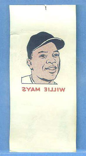 1960 Topps TATTOO - WILLIE MAYS (Giants) Baseball cards value