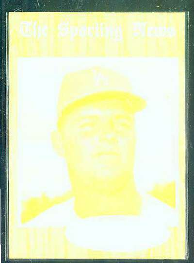 1962 Topps YELLOW PROOF - Don Drysdale (Dodgers) Baseball cards value