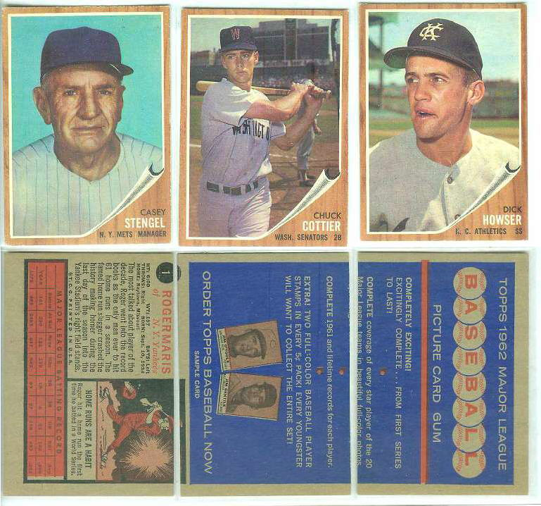 1962 Topps  DEALER SAMPLE -  Dick Howser front/Promo back (Kansas City A's Baseball cards value
