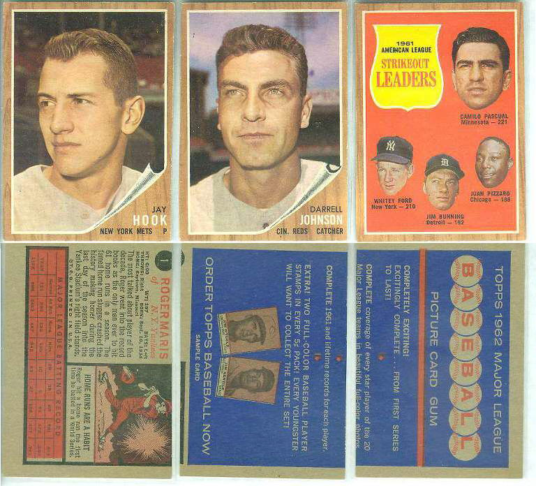 1962 Topps  DEALER SAMPLE - Whitey Ford/Jim Bunning front/Promo back Baseball cards value
