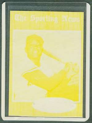 1962 Topps YELLOW PROOF - WILLIE MAYS (Giants) Baseball cards value