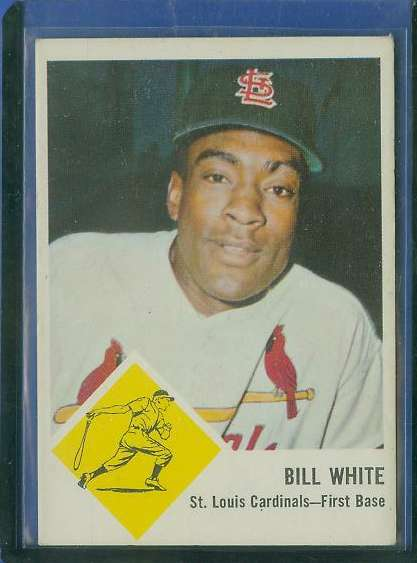 1963 Fleer  #NNO  Bill White BLANK-BACK PROOF (Cardinals) Baseball cards value