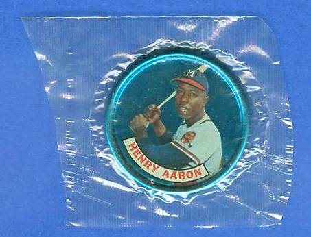 1965 Old London - HANK AARON - Still SEALED in original CELLOPHANE !!! Baseball cards value