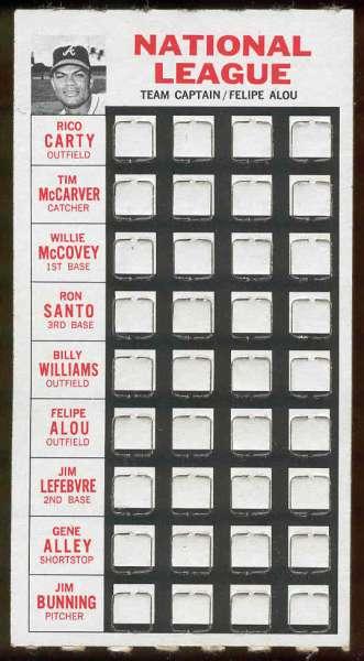 1967 Topps Punch-Outs - Felipe Alou (Team Captain) (Braves) Baseball cards value