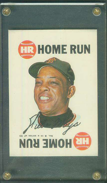1968 Topps Game SQUARE-CORNER PROOF #.8 WILLIE MAYS (Giants) Baseball cards value