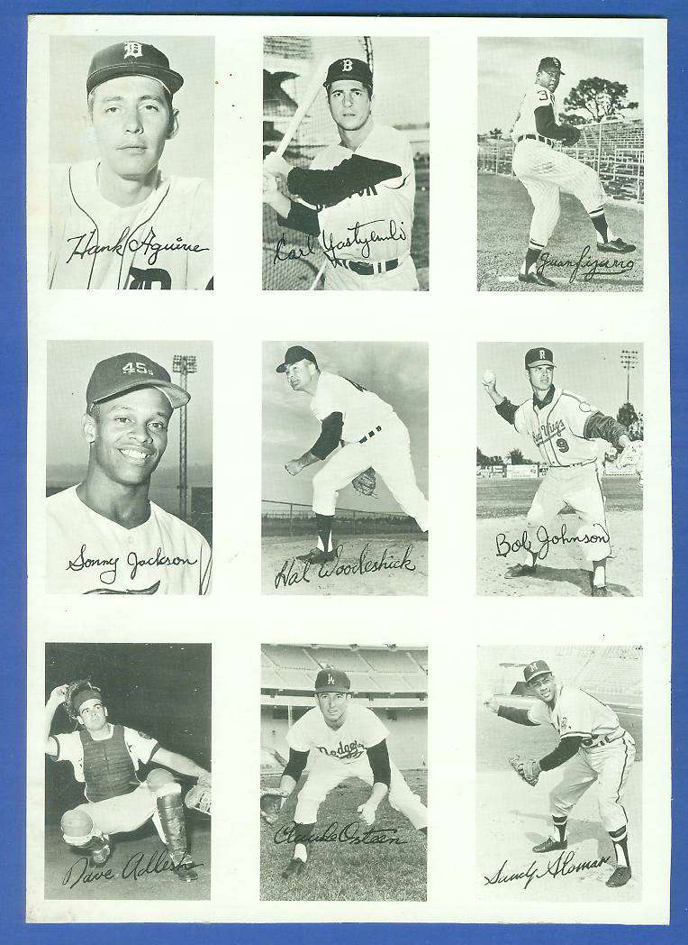 1969 Topps DECKLE PROOF SHEET - with CARL YASTRZEMSKI (Red Sox) Baseball cards value