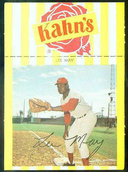 1969 Kahn's - Lee May (Reds) Baseball cards value