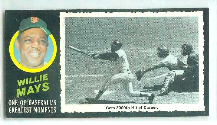 1971 Topps Greatest Moments #41 WILLIE MAYS [#a] (Giants) Baseball cards value