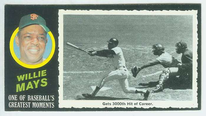 1971 Topps Greatest Moments #41 WILLIE MAYS [#b] (Giants) Baseball cards value