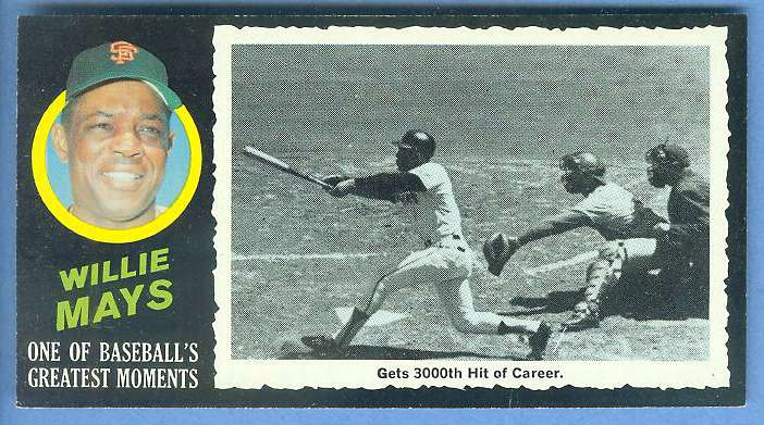 1971 Topps Greatest Moments #41 WILLIE MAYS [#c] (Giants) Baseball cards value