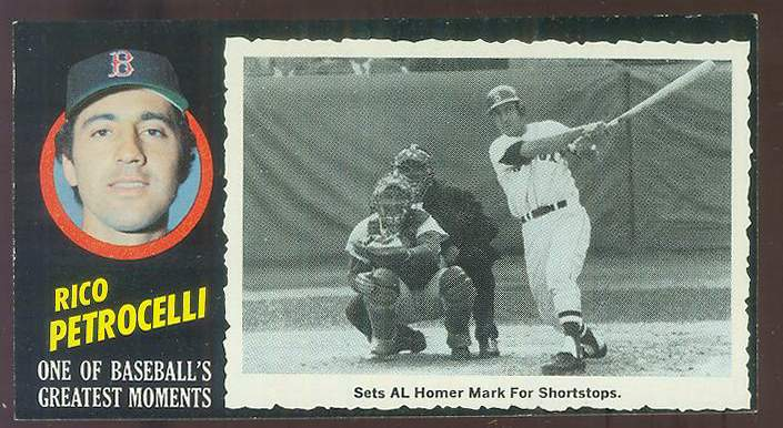 1971 Topps Greatest Moments #39 Rico Petrocelli (Red Sox) Baseball cards value