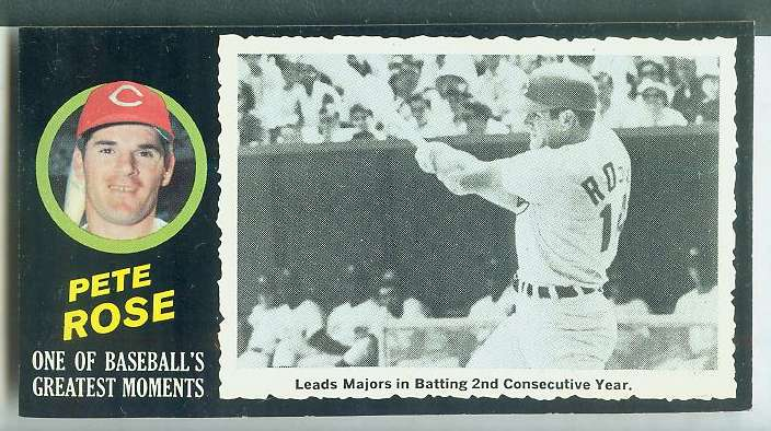 1971 Topps Greatest Moments #15 PETE ROSE (Reds) Baseball cards value