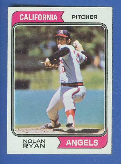 1974 Topps #.20 Nolan Ryan [#a] (Angels) Baseball cards value