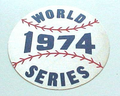 1974 Dodgers vs A's - World Series Stick-On Fabric Patch !!! Baseball cards value