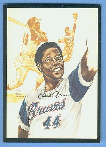 1979 Signature Miniatures ART CARD - HANK AARON (Braves) Baseball cards value