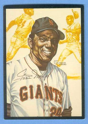 1979 Signature Miniatures ART CARD - WILLIE MAYS (Giants) Baseball cards value