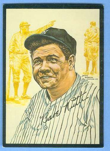 1979 Signature Miniatures ART CARD - BABE RUTH (Yankees) Baseball cards value