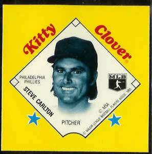 1985 Kitty Clover Disc PROOF - Steve Carlton (Phillies) Baseball cards value