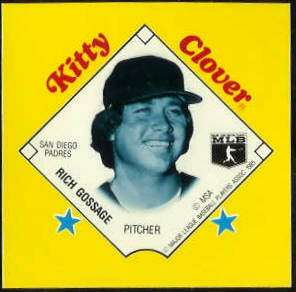 1985 Kitty Clover Disc PROOF - Rich Gossage (Padres) Baseball cards value