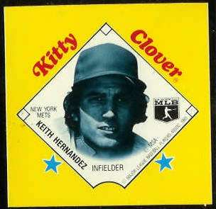 1985 Kitty Clover Disc PROOF - Keith Hernandez (Mets) Baseball cards value