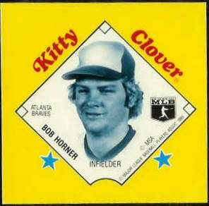 1985 Kitty Clover Disc PROOF - Bob Horner (Braves) Baseball cards value