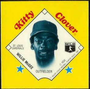 1985 Kitty Clover Disc PROOF - Willie McGee (Cardinals) Baseball cards value