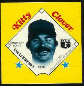 1985 Kitty Clover Disc PROOF - Dan Quisenberry (Royals) Baseball cards value