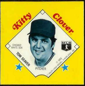 1985 Kitty Clover Disc PROOF - Tom Seaver (White Sox) Baseball cards value