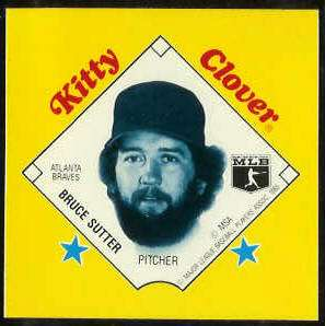 1985 Kitty Clover Disc PROOF - Bruce Sutter (Braves) Baseball cards value
