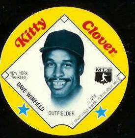 1985 Kitty Clover Disc - Dave Winfield (Twins) Baseball cards value