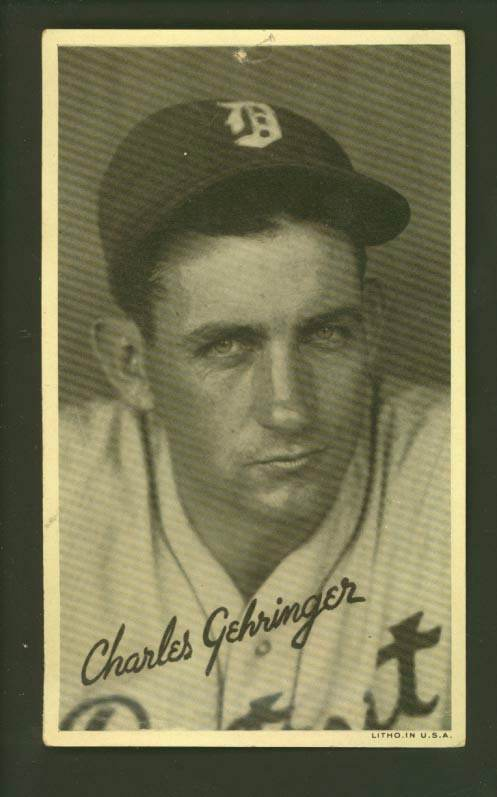 1936 Goudey Wide Pen Premiums R314 #A 37 Charley Gehringer Baseball cards value