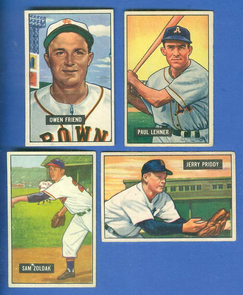 1951 Bowman #101 Owen Friend (St. Louis Browns) Baseball cards value