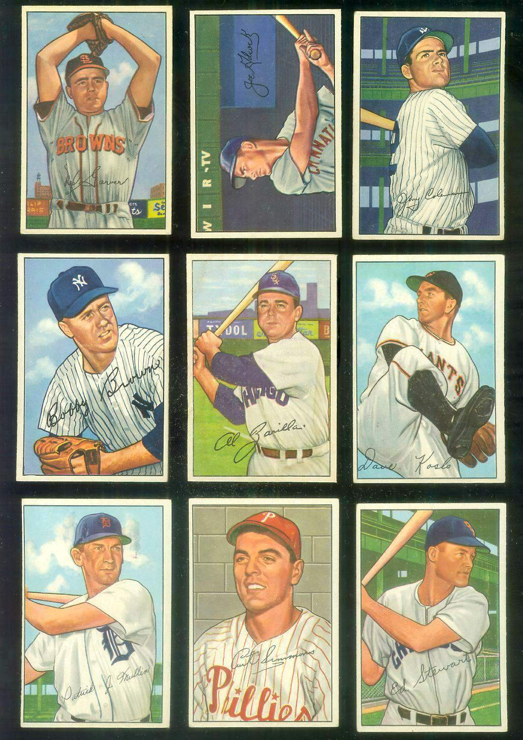 1952 Bowman #184 Curt Simmons [#x] (Phillies) Baseball cards value