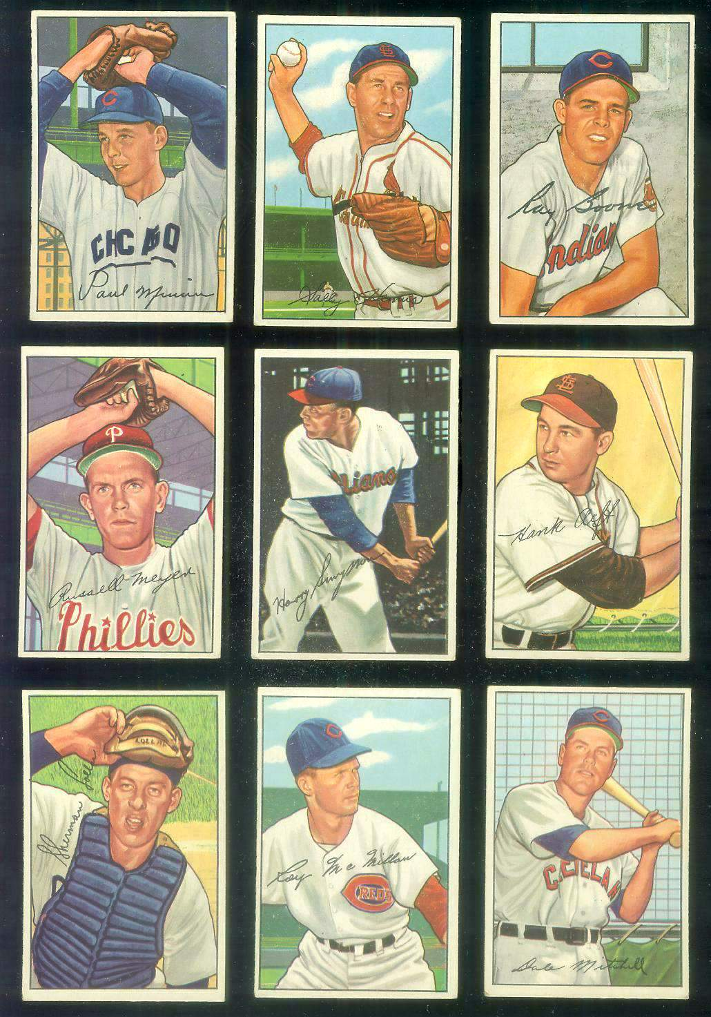 1952 Bowman #223 Harry Simpson [#x] (Indians) Baseball cards value
