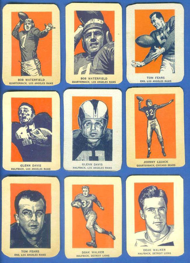 1952 Wheaties #29A Bob Waterfield PORTRAIT [#a] (Football) Football cards value