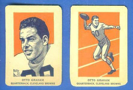 1952 Wheaties #13B Otto Graham ACTION [#a] (Football) Football cards value