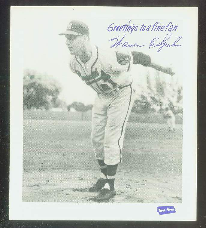 1957 Spic and Span 4x5 #18 Warren Spahn (Braves) Baseball cards value