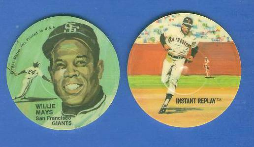 1971 Mattel #.8 WILLIE MAYS (DOUBLE-SIDED) Instant Replay MINI-RECORD Baseball cards value