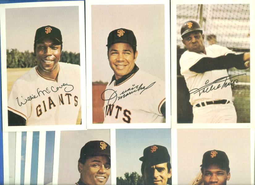 1971 Ticketron -  S.F. GIANTS COMPLETE SET w/WILLIE MAYS Baseball cards value