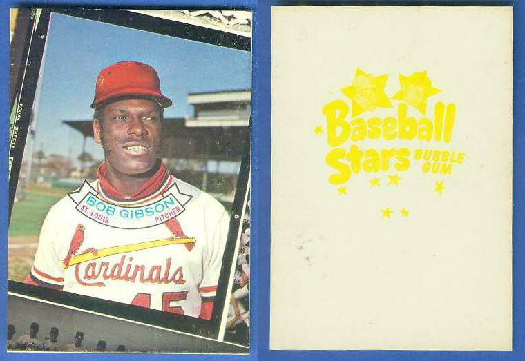 1973 Topps CANDY LIDS PROOF - BOB GIBSON (Cardinals) Baseball cards value