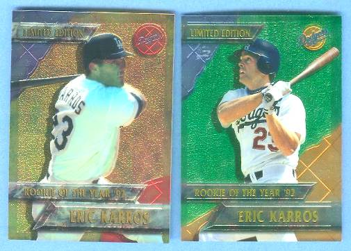 Eric Karros - 1994 CHROMIUM DODGERS 'Rookie of the Year' Baseball cards value