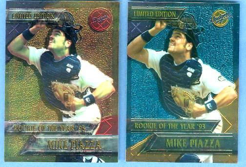Mike Piazza - 1994 CHROMIUM DODGERS 'Rookie of the Year' Baseball cards value