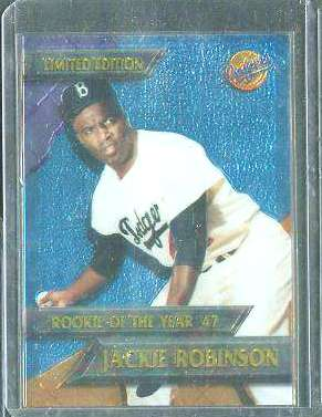 Jackie Robinson - 1995 CHROMIUM DODGERS 'Rookie of the Year' Baseball cards value