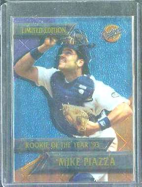 Mike Piazza - 1995 CHROMIUM DODGERS 'Rookie Of The Year' Baseball cards value