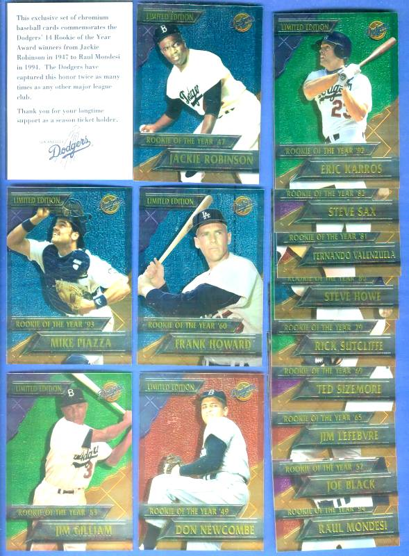 1995 CHROMIUM DODGERS - COMPLETE SET (14 cards) Baseball cards value