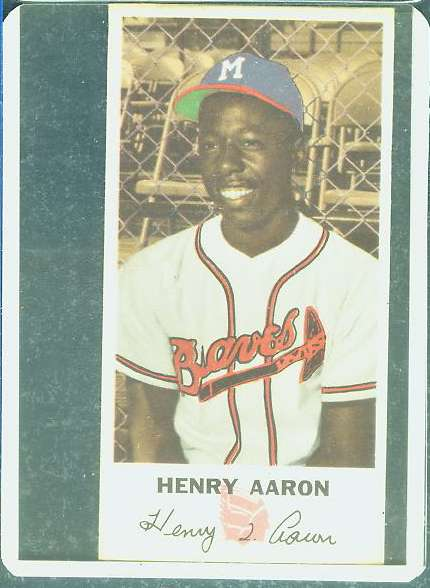 Hank Aaron - 1954 Johnston Cookies #5 ROOKIE (Braves) Baseball cards value